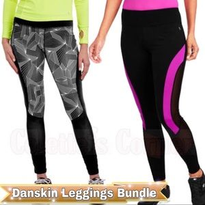 Danskin Size Large Compression Leggings Bundle
